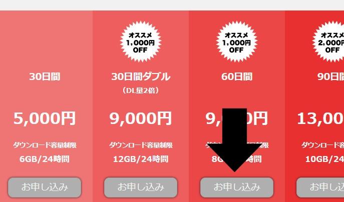 TOKYO-HOT(東京熱)での割引クーポンコードの使い方 申し込み画面
